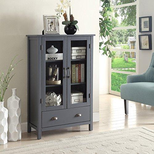 Briarwood Home Decor Painted Wood Storage Cabinet Grey (Furniture Briarwood)