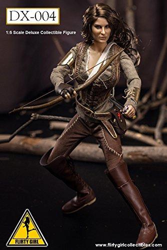 Flirty Girl 1/6 The Hunger Games Primrose Everdeen Action Figure 12'' Jennifer Lawrence Bow Girl Figure Female Warrior Figure by Flirty Girl