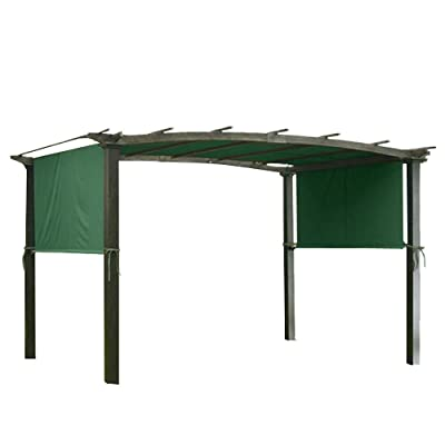 CooPee 17x6.5 Ft Universal Replacement Canopy for Pergola Structures Green: Garden & Outdoor