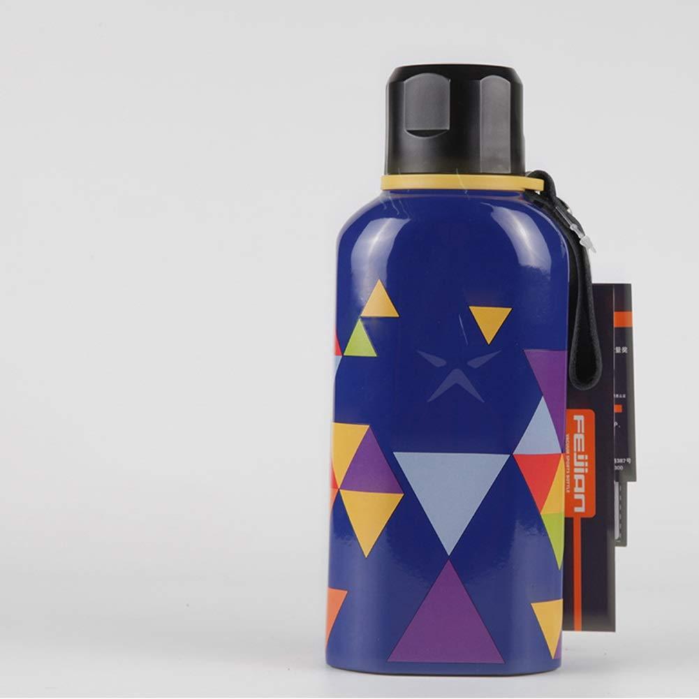 SHIZHESHOP 450 Edelstahl-Vakuum-Insulaterd-Flasche mit Ledergriff