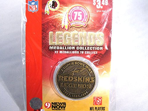 (Washington Redskins Legends 75th Anniversary Commemorative Medallion Coin)