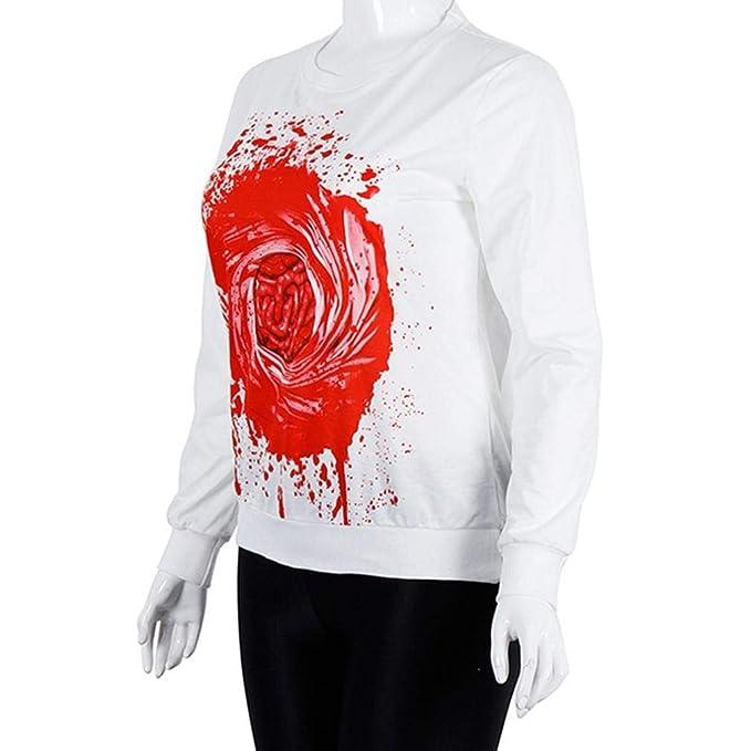 ❤ Sudadera para Mujer, Tefamore Halloween Impresión Manga Larga Pullovers Moda Sweatshirt Tops de Fiesta Casual Camisetas: Amazon.es: Ropa y accesorios