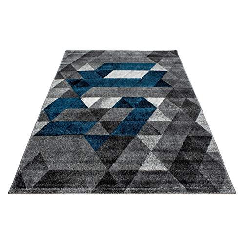 Carpet 1001 Moderner Designer Wohnzimmer Teppich Lima 1920 TÜRKIS - 160x230 cm