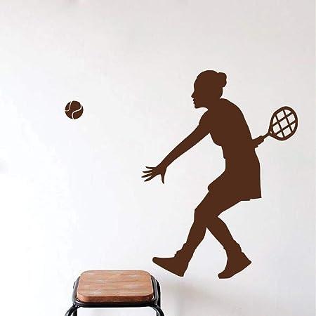 fancjj Mujer Jugador de Tenis Silueta Tatuajes de Pared Mural ...