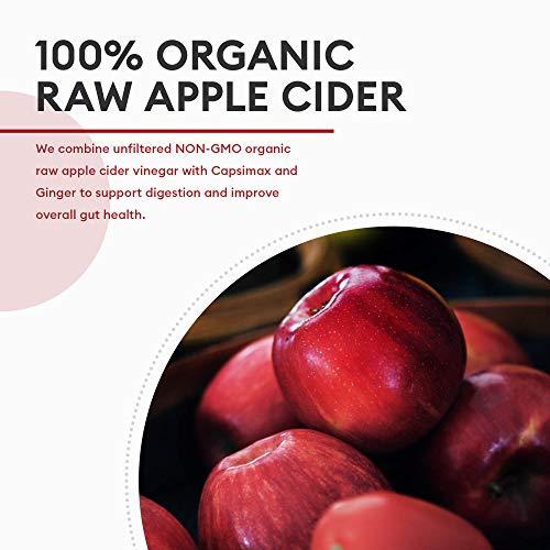 Fat Burners for Women & Men, Thermogenic Fat Burner Pills (Award Winning Capsimax) Organic Apple Cider Vinegar Capsules, Metabolism Booster, Appetite Suppressant, Non-GMO Diet Kit, 60 Count