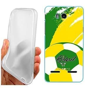 CUSTODIA COVER CASE COPPA AMERICA PALLONE BRASIL PER Huawei Ascend G600