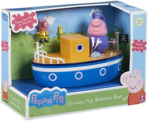 New Peppa Pig Grandpa Pig/'s Boat Vehicle Small Playset With Pirate George