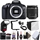 Canon EOS 1300D 18MP Digital SLR Camera with 18-55mm EF-IS STM Lens , SFD-740C Speedlite Flash and Accessory Bundle
