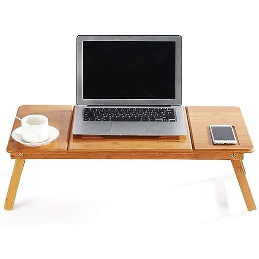 Mesa Ordenador Portátil Bambú Soporte para Computadora Portátil ...