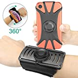 Bovon Phone Wristband, 360° Rotatable Detachable Magnetic Armband for Running, Sports Forearm Band Compatible with iPhone Xs Max/XR/X/8, Galaxy S10/S10e/S9 Plus and All 4'-6.5' Smartphone
