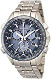 Seiko Blue Dial Titanium Chronograph Quartz Men's Watch SSE005