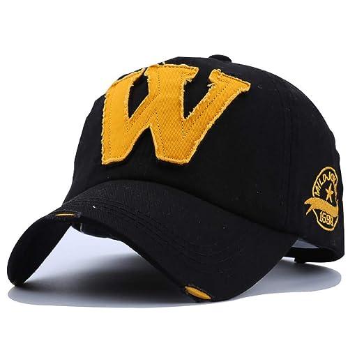 MHKECON Big W Who What Why Cotton Cowboy Hats Baseball Cap