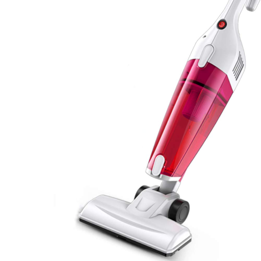 OR&DK Corded Putter Vacuum Cleaner 1.6kpa Large Suction, Vacuum and Mopping 2 in1, 360° otatable, 1.5l-red