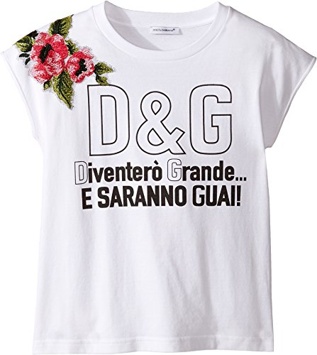 Dolce & Gabbana Kids Girl's When I Grow Up Tee (Big Kids) White Print T-Shirt by Dolce & Gabbana