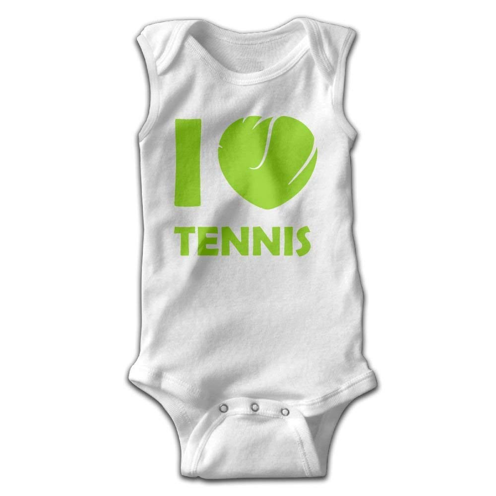 Toddler Baby Boys Sleeveless Rompers Tennis Love Outfit Bodysuit