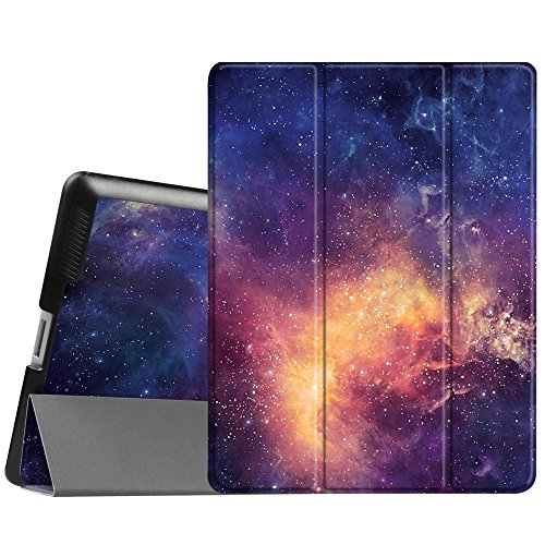 Fintie iPad 2/3/4 Case - Lightweight Slim Tri-Fold Smart Stand Cover Protector Supports Auto Wake/Sleep for iPad 4th Generation with Retina Display, iPad 3 & iPad 2 - Galaxy (Ipad Mini 2 Ipad Mini 4 Comparison)