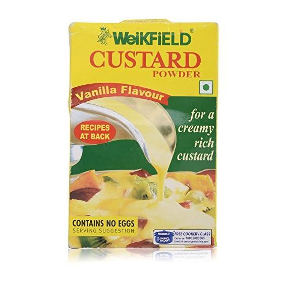 Weikfield Custard Powder - Vanilla Flavour, 200g Pack