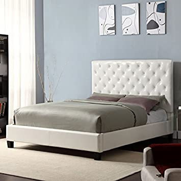 this elegant tufted headboard for a queen bed is a complete platform bed set includes