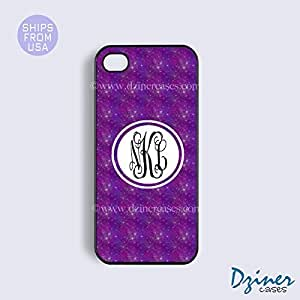 Personalized Your Initials iPhone 5c Case - Purple Sky Pattern iPhone Cover by mcsharks