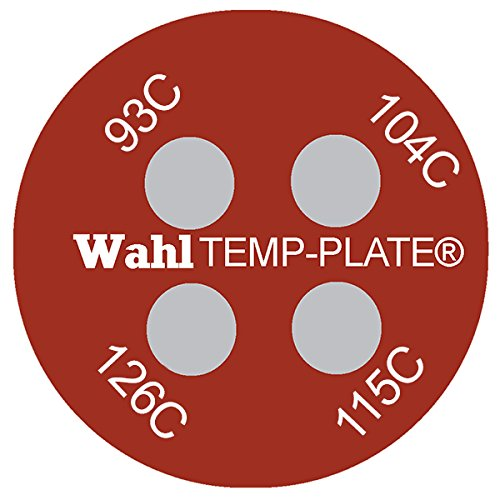 Wahl Instruments 442-094C Micro Round Four-Position Temp-Plate, 93, 104, 115 and 126 degrees C (Pack of 10) Inc.