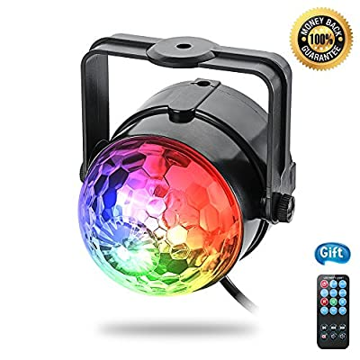 Party Lights , VIIVRIA Colorful Disco Ball Light with Bluetooth Remote for Birthday Xmas Wedding Home Party Celebrations (Stage Light + Remote) from VIIVRIA