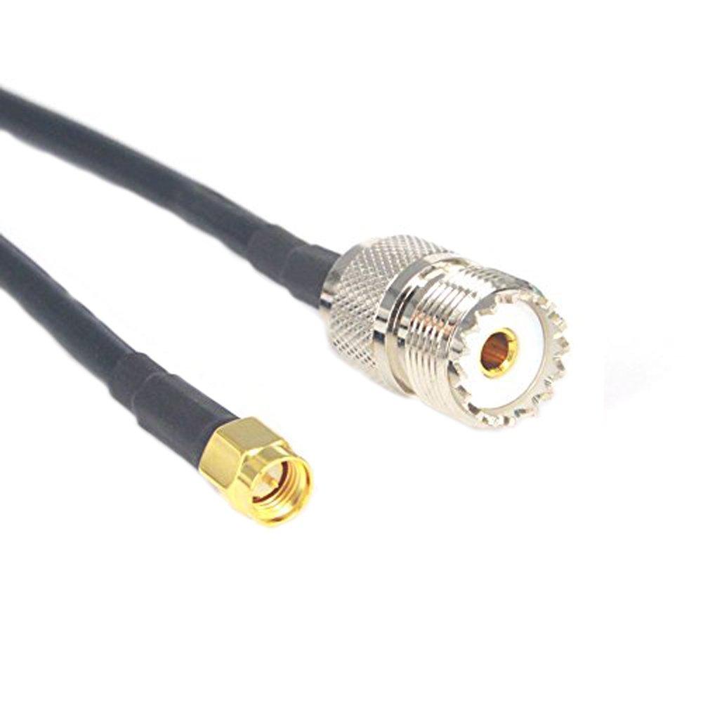 onelinkmore SMA Macho UHF Hembra SO239 Adaptador Cable de Extensión de Conector Pigtail RG58 Coaxial 19 Pulgadas: Amazon.es: Electrónica