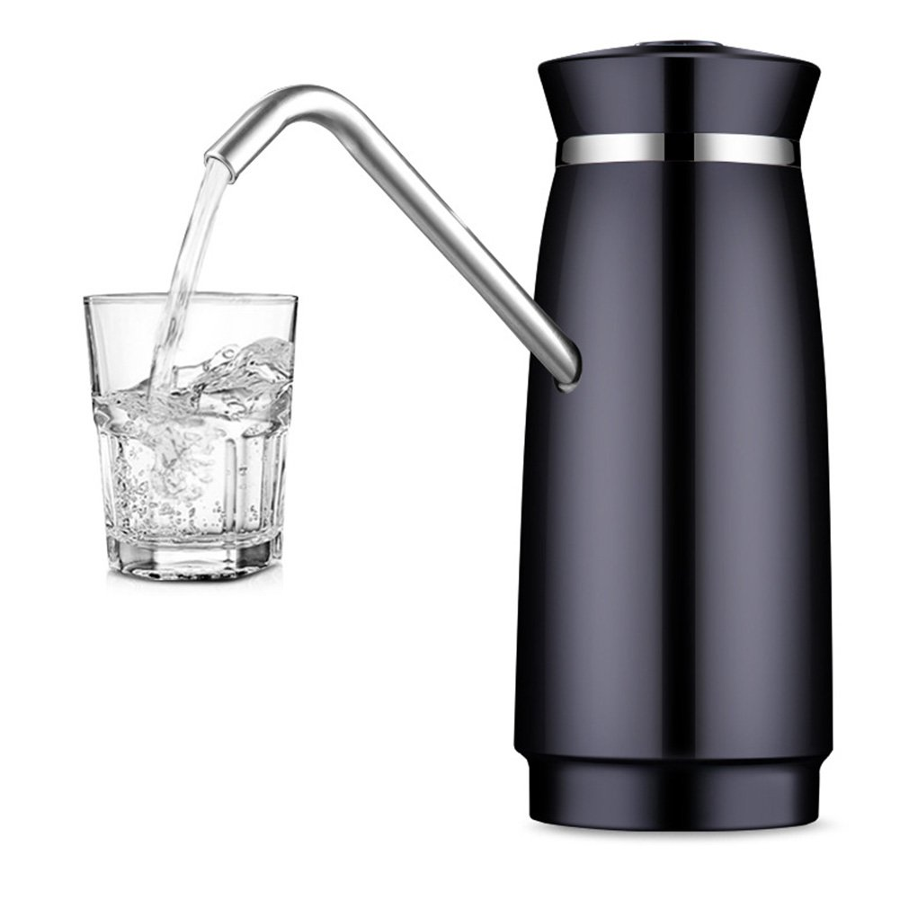 Rechargeable Drinking Water Pump, Wireless Automatic Electric Gallon Drinking Bottle Water Dispensing Pump System With USB Anti-rust (Black)