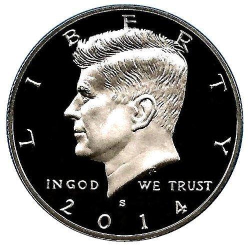 2014 S US Mint Deep Cameo Kennedy Proof Half DCAM