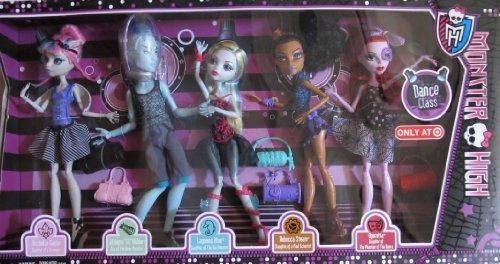 [MONSTER HIGH 5 Pack DANCE CLASS w Rochelle GOYLE, 'GIL' WEBBER, Lagoona BLUE, Rebecca STEAM & Operetta TARGET EXCLUSIVE (2013) by Monster] (Monster High Lagoona And Gil)