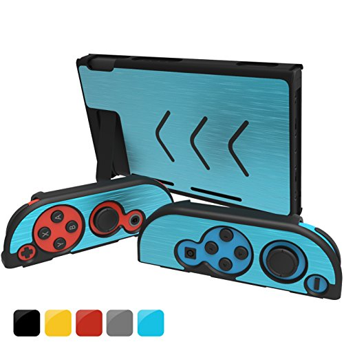 Gh Nintendo Switch Case Cover   Joy Con Cover  Slim Aluminum  Snap On  Decorative Switch Shell For Ns Console   Joy Con Controllers 2017 Release   Light Blue