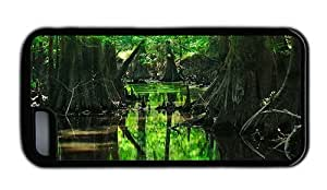 Hipster iPhone 5C cover thin forest tree swamp TPU Black for Apple iPhone 5C