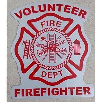 Reflective fireman Sticker Volunteer Firefighter Maltese