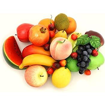ALEKO AFA1 Decorative Lifelike Realistic Artificial Fake Fruit Decor Assortment Lot of 32