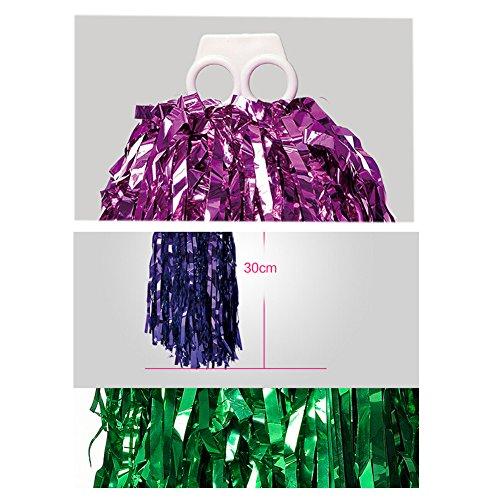 100g 2 Cheerleading Lot Rouge de plastique Poms Lumineux H7YxxPwqB