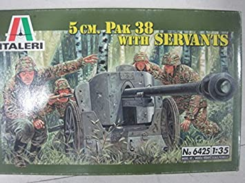 Amazon.com: Italia Italeri 6425 1/35 – Maqueta de Pak 50 mm ...