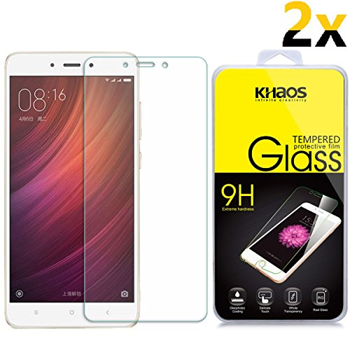 [2-Pack] KHAOS forXiaomi Redmi Note 4 Glass Screen Protector HD Tempered Glass Screen Protectors for Xiaomi Redmi Note4,