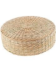 Fenteer zitkussen, rietje, plat, handgeweven, rond, zacht, tatami, gebreide vloer, tuin, eetkamer, decoratie