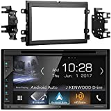 Kenwood DDX6703S 6.2 Inch Touchscreen Double-DIN CD DVD Player Car Stereo Receiver with Apple Carplay - Bundle Combo With Metra 95-5812 Black Installation Kit for Select 2004 and Up Ford Vehicles