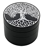 Tree of Life Laser Etched Design 4pcs Large Size Herb Grinder With FREE Scraper Item # ETCH-G012317-247