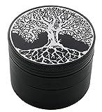 Tree of Life Laser Etched Design 4pcs Large Size Herb Grinder With FREE Scraper Item # ETCH-G012317-247