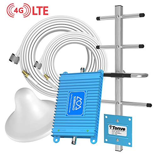Cell Phone Signal Booster/Amplifier/Repeater, Verizon Band13 Dedicated, Easy to Install Without Monthly Rent, Enhanced 4G LTE Signal Kit, Subroad Free Boosts Your Phone Signal and Internet Speed Blue (Best Cell Phone Without Internet)
