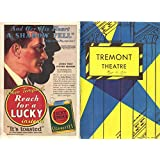 George M. Cohan in Gambling Tremont Theatre Boston Program March 10, 1930
