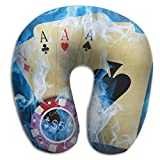 Lesi Yes U Shaped Neck Pillow Memory Foam Soft Poker Cards Magic Indoor Outdoor Travel Airplane Car Office School