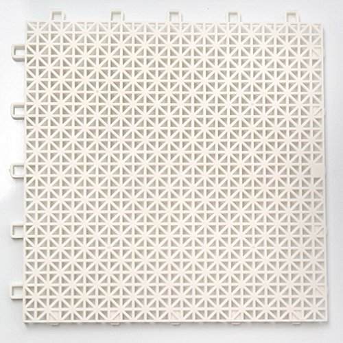 Uxjam Bathroom Mats Splicing Mats Can Be Cut Shower Room Bunk Toilet Tiles Tasteless Pierced White About 25CM 25CM (Excluding Buckles))
