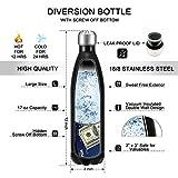 Diversion Safe Water Bottle with Secret Hidden