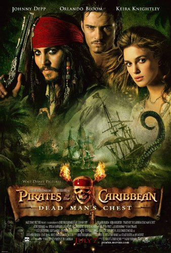 PIRATES OF THE CARIBBEAN DEAD MANS CHEST 2 MOVIE POSTER 2 Sided ORIGINAL 27x40 (Mint Pirates Condition)