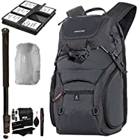 VANGUARD ADAPTOR 46 Camera Daypack, Rain Bag Cover, SD/SDHC Memory Card Hard Plastic Case, Ritz Gear Cleaning Kit, 72 Heavy Duty Monopod