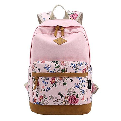 Arin Filles Garons adolescents Ros Toile sac de randonne de sac d'cole Sac  dos multi-fonction - Voyages, scolaire, loisirs