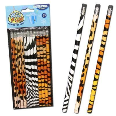 Animal Print Pencils - 12 ct