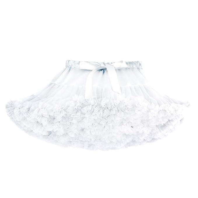 39a547831 DoGeek Tutu Falda de Capas de Volantes Falda de Tul de Petticoat Tutú para  Niñas